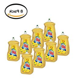 PACK OF 8 - Ajax Ultra Triple Action Liquid Dish Soap, Lemon
