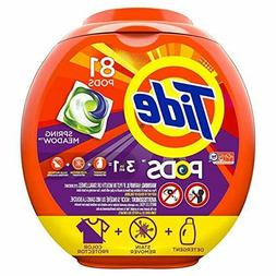 Tide PODS 3 in 1 HE Turbo Laundry Detergent Pacs, Spring Mea