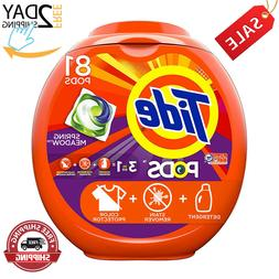 Tide PODS 3in1 HE Turbo Laundry Detergent Pacs, Spring Meado