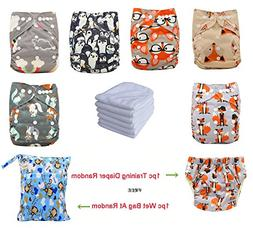 Ohbabyka Reusable Pocket Cloth Diapers Washable Adjustable O
