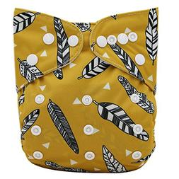 Ohbabyka Reusable Washable Baby Boys/Girls Pocket Cloth Diap
