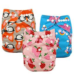 Ohbabyka Baby Reusable Waterproof Bamboo Cloth Diapers Nappi