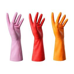 Rubber Gloves-Latex Free Kitchen Cleaning Gloves Household w