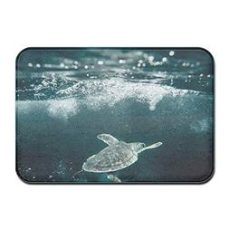 ABE SeaTurtles Non Slip Doormat Floor Mat Carpet Indoor Rect