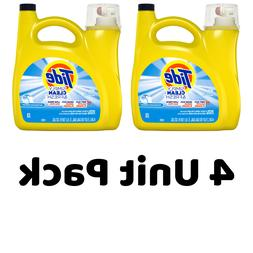 4-Pack Tide Simply Clean & Fresh HE Liquid Laundry Detergent