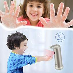 LPOLER Automatic Soap Dispenser, 280ML Touchless Stainless S