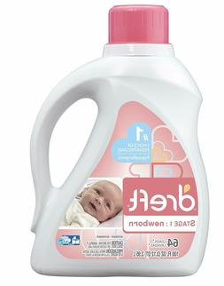 Dreft Stage 1: Newborn Baby Liquid Laundry Detergent, 64 Loa