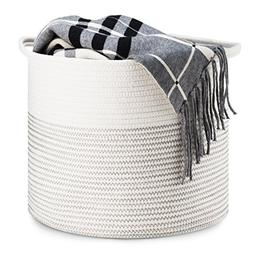 Storage Basket - Cotton Rope Storage Baskets with Handles, 1