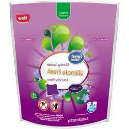 Great Value Ultimate Fresh Laundry Detergent Pacs, Blooming