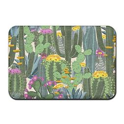 Feimao Various Wild Cactus Anti-slip Doormats Durable Carpet