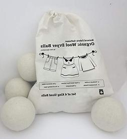 WOOL DRYER BALLS NATURAL FABRIC SOFTENER REUSABLE REDUCES CL